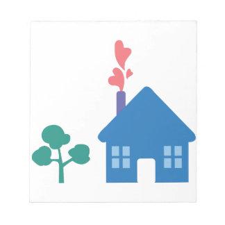 Casa del amor blocs de papel