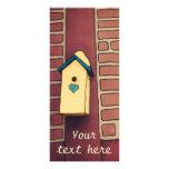 Casa del amor, tarjeta adaptable del estante tarjeta publicitaria a todo color