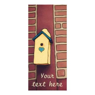 Casa del amor, tarjeta adaptable del estante tarjeta publicitaria