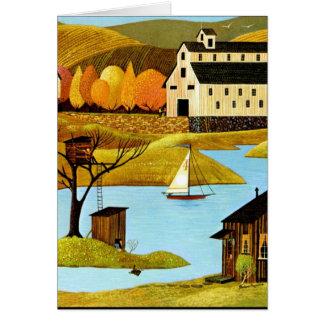 Casa del árbol de la isla tarjeta de felicitación