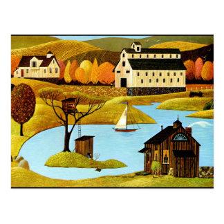 Casa del árbol de la isla tarjetas postales