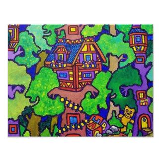 """Casa del árbol de la magia de Piliero Invitación 4.25"""" X 5.5"""""""