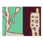 Casa del árbol tarjetas postales