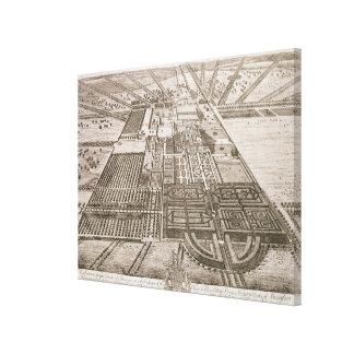 Casa del bádminton en el condado de Gloucester, en Impresión En Lienzo