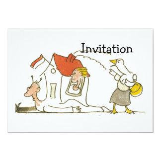 """Casa del caracol invitación 5"""" x 7"""""""