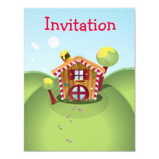 """Casa del caramelo en la colina invitación 4.25"""" x 5.5"""""""