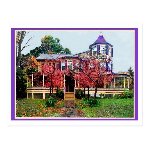 Casa del caramelo tarjeta postal