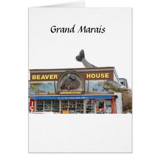 Casa del castor tarjeta de felicitación