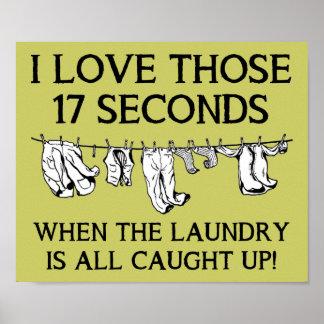 Casa del día del lavadero que limpia la muestra posters