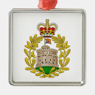 Casa del escudo de armas real de Windsor Adorno Navideño Cuadrado De Metal
