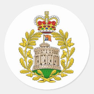 Casa del escudo de armas real de Windsor Pegatina Redonda