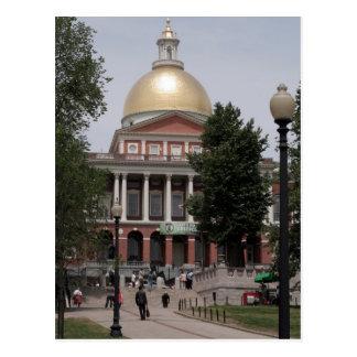 Casa del estado de Boston Tarjeta Postal