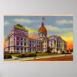 Casa del estado de Indianapolis, Indiana circa 193 Posters