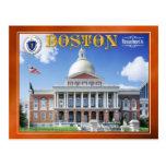 Casa del estado de Massachusetts en Boston Tarjeta Postal