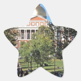 Casa del estado de Massachusetts Pegatina En Forma De Estrella