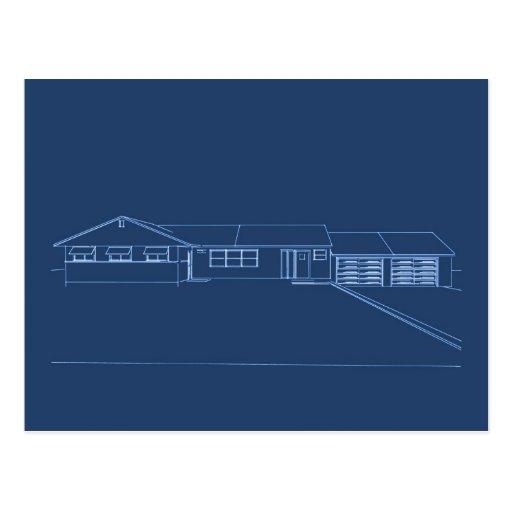 Casa del estilo del rancho: Proyecto original: Postales