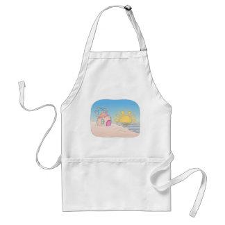 Casa del fiesta de la playa delantales