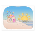 Casa del fiesta de la playa tarjetas postales
