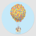 Casa del globo de Disney Pixar ENCIMA de la Pegatina Redonda