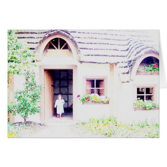 casa del jardín tarjeta de felicitación