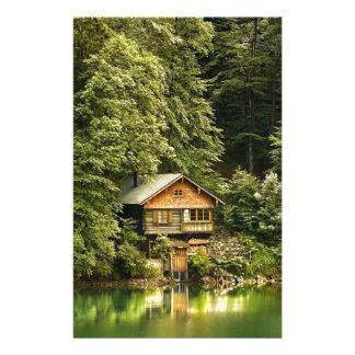 Casa del lago cabin personalized stationery