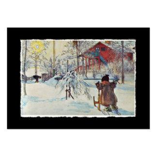Casa del lavado en la nieve plantilla de tarjeta de negocio