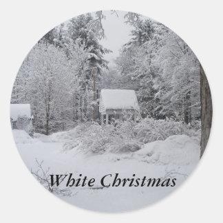 Casa del Navidad-Bien Etiquetas Redondas