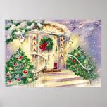 Casa del navidad del vintage impresiones