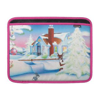 Casa del navidad: Mangas de aire de Macbook Funda MacBook