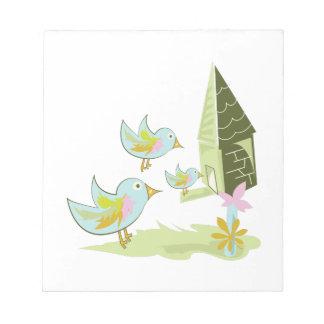 Casa del pájaro blocs de papel