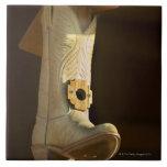 Casa del pájaro de la bota de vaquero azulejos