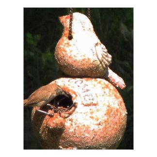 Casa del pájaro del Wren de casa Plantillas De Membrete