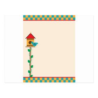 Casa del pájaro tarjetas postales