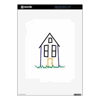 Casa del palillo iPad 2 calcomanía
