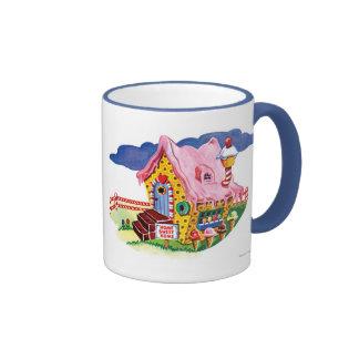 Casa del pan del jengibre de la tierra del taza de dos colores