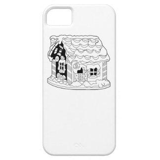 Casa del pan del jengibre iPhone 5 Case-Mate cárcasa