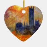 Casa del parlamento Sun - Claude Monet Ornamentos Para Reyes Magos