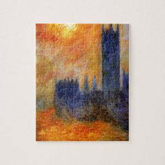 Casa del parlamento Sun de Claude Monet Puzzle