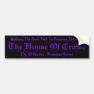 Casa del pegatina de Crowe Pegatina Para Auto
