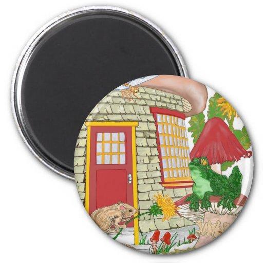 Casa del ratón imán de nevera