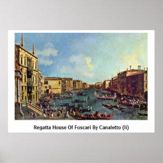Casa del Regatta de Foscari por Canaletto (ii) Poster