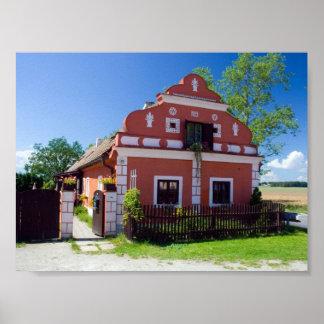 Casa del sur tradicional de Bohemia Póster