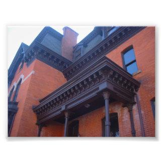 Casa del Victorian del ladrillo con el ajuste de m Cojinete