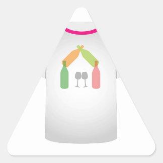 Casa del vino de la plantilla de la camiseta calcomanías de trianguladas