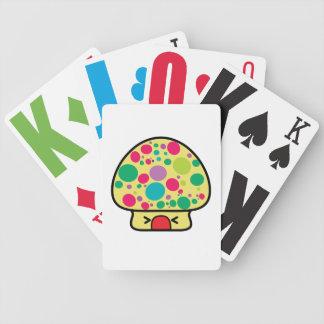 casa divertida de la seta del toadstool del kawaii cartas de juego