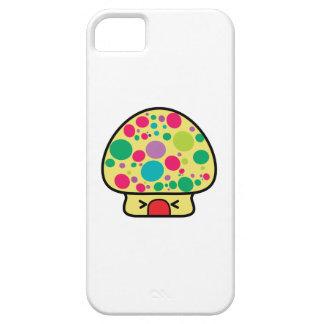 casa divertida de la seta del toadstool del kawaii iPhone 5 carcasas
