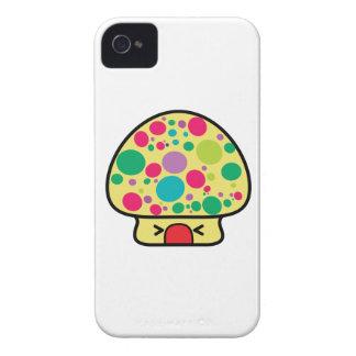 casa divertida de la seta del toadstool del kawaii iPhone 4 cobertura