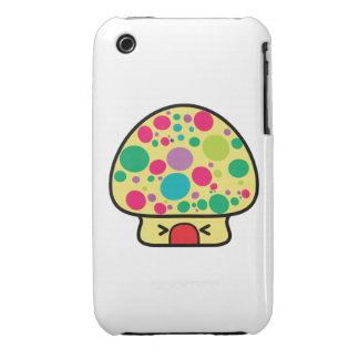 casa divertida de la seta del toadstool del kawaii iPhone 3 Case-Mate carcasas
