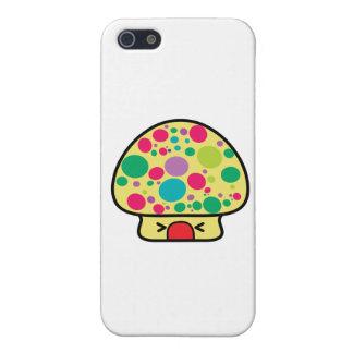 casa divertida de la seta del toadstool del kawaii iPhone 5 funda