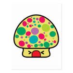 casa divertida de la seta del toadstool del kawaii postal